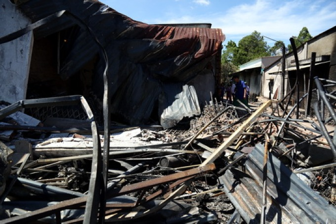 The burnt house that result in four deaths. Photo by VnExpress/ Phuoc Tuan