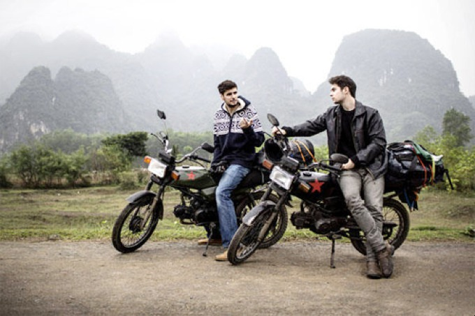Two Swiss citizens, Emanuel Hansenberger and Fabian Seiler traveled across Vietnam on motorcycles for a month. Photo courtesy of Hansenberger - Seiler.