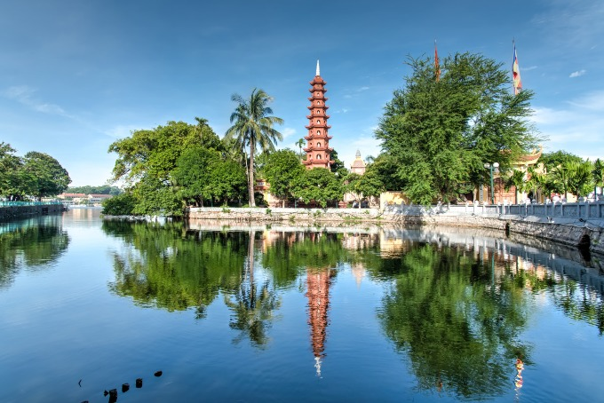 A view of Tran Quoc pagoda in Hanoi. Photo by Shutterstock