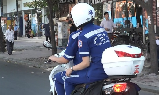 Saigon sets up motorbike-borne emergency medical response team