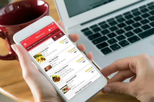 A green-red rivalry heats up food delivery market