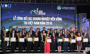 Leading business brands showcase sustainability in Vietnam's top 100 listing