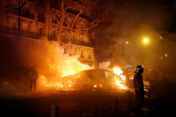 Worst riots in Paris since 1968