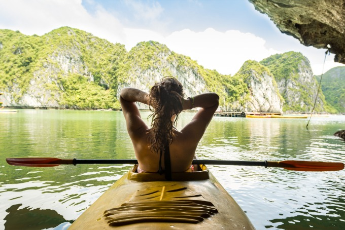 Kayaking in Cat Ba Istand is one of the favorite activities of tourists here. Photo by Shutterstock/Sean Kruger