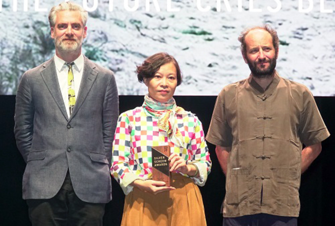 Pham Thu Hang (middle) at the Singapore International Film Festival. Photo by