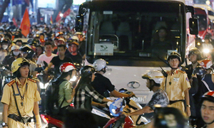 AFF Cup final: Saigon mobilizes police, imposes traffic restrictions