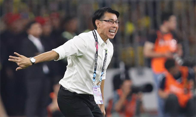 Malaysia head coach Tan Cheng Hoe appreciates the way Malaysia came back from 2-0 down. Photo by VnExpress/Duc Dong