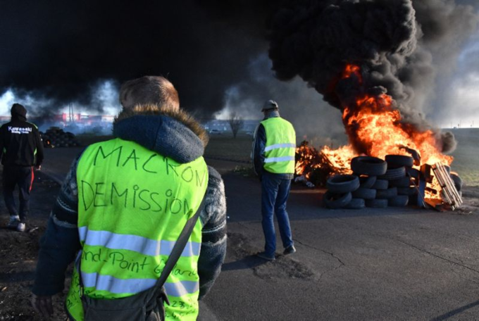 The yellow vests protests in France have forced concessions from President Emmanuel Macron. Photo by AFP/Pascal Guyot