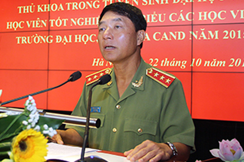 Former Deputy Minister of Public Security Tran Viet Tan. Photo courtesy of Cong An Nhan Dan