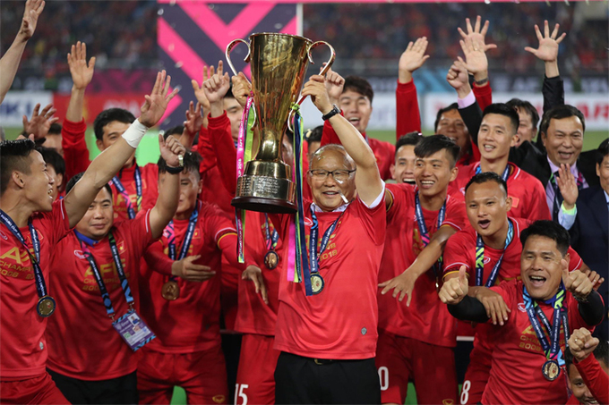 Coach Park Hang-seo dedicates AFF Cup win to Vietnamese fans