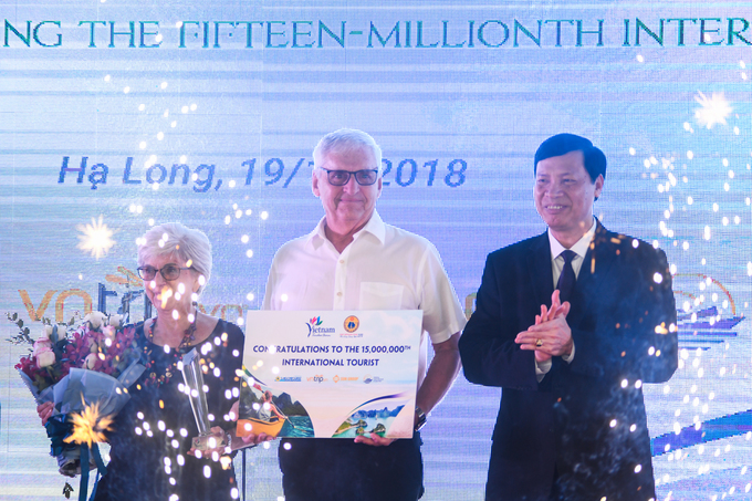 James Copernicus is the 15 millionth foreigner to arrive in Vietnam this year.