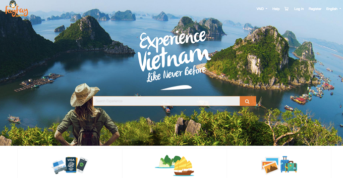 A panoramic view of Vietnams stunning Ha Long Bay used to promote Vietnamese tourism.