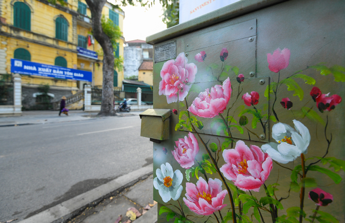 Flower power shocks Hanois sidewalks