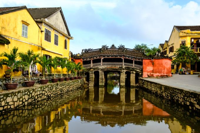 View of the Japanese Bridge in Hoi An. Photo by Shutterstock/Nitith Chansure.