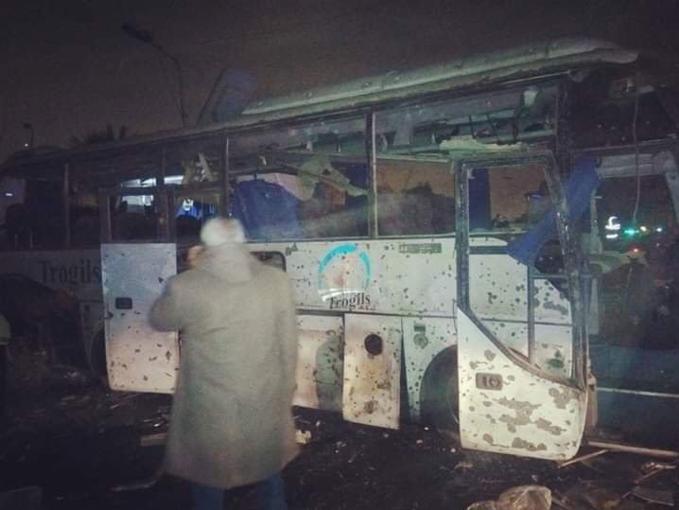 Scenes of bus blast that killed three Vietnamese tourists in Egypt - 3