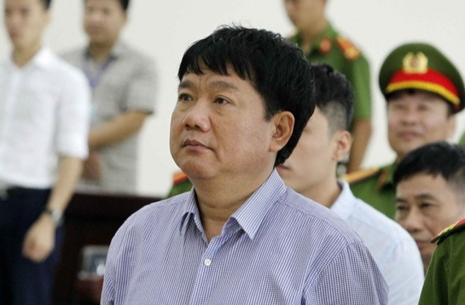 Dinh La Thang at a court in Hanoi on May 5, 2018. Photo by Vietnam News Agency.