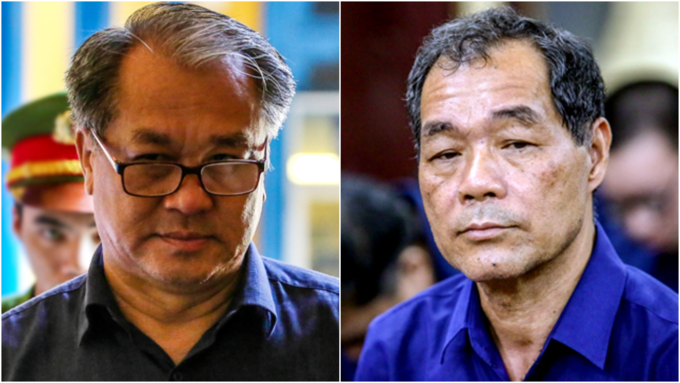 Pham Cong Danh (L) and Tram Be at a court in Ho Chi Minh City in August . Photos by VnExpress/Thanh Nguyen