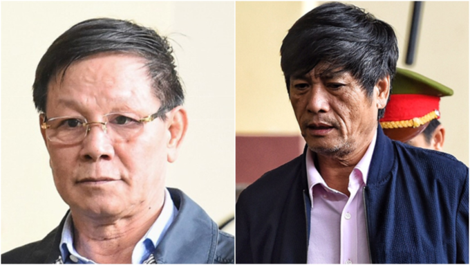 Phan Van Vinh (R) and Nguyen Thanh Hoa is at a court in Phu Tho Province in northern Vietnam in November. Photos by VnExpress/Giang Huy