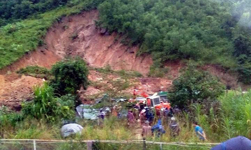 Three killed as landslide buries houses in central Vietnam