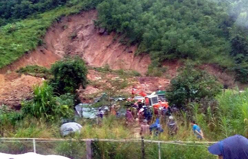 Three killed as landslide buries houses in central Vietnam