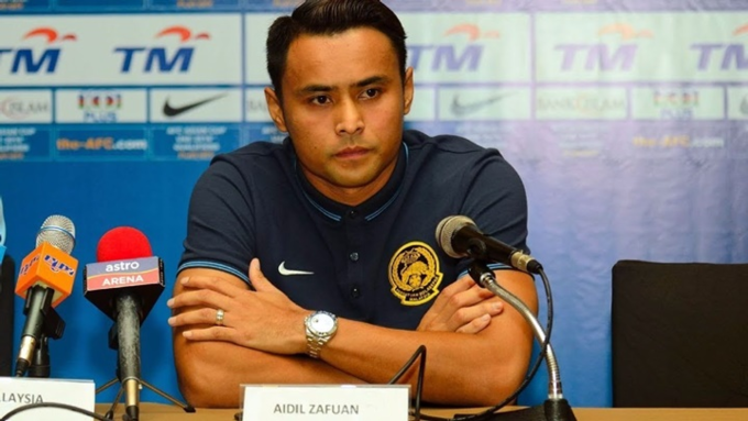 Defender Aidil Zafuan in pre-match press conference. Photo by Duc Dong/VnExpress.