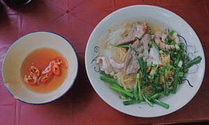 A Saigon noodle soup stall in business for 75 years