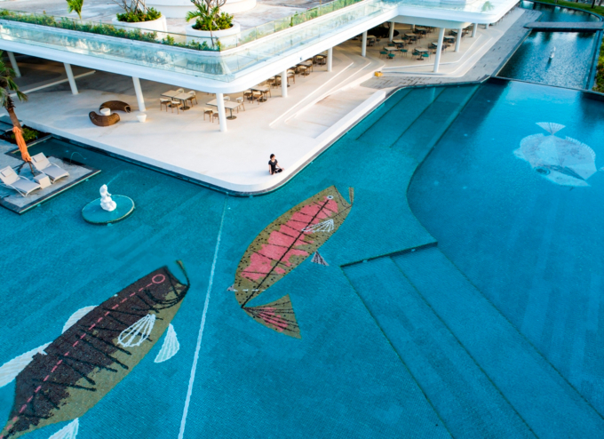 The main pool at Premier Residences Phu Quoc Emerald Bay.