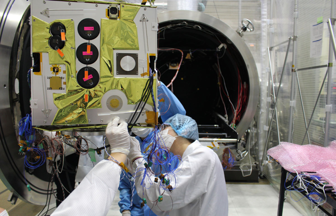 Vietnams coast observation satellite gets ready to go into space - 1