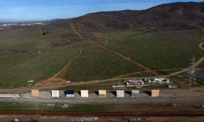 Trump has made building a wall -- like these prototypes seen from Tijuana on January 7, 2019 -- the central theme of his nationalist domestic policies. Photo by AFP/Guillermo Arias