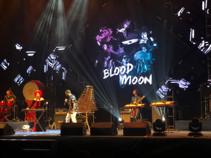 Blood Moon Orchestra on stage.
