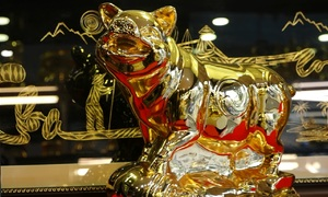 In the Year of the Pig, golden pigs for prosperity