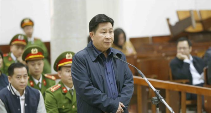 Bui Van Thanh at the court in Hanoi on Monday. Photo by Vietnam News Agency
