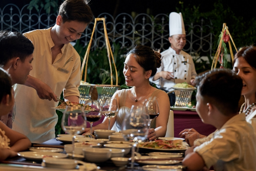 A warm and succulent dinner in the resorts restaurant