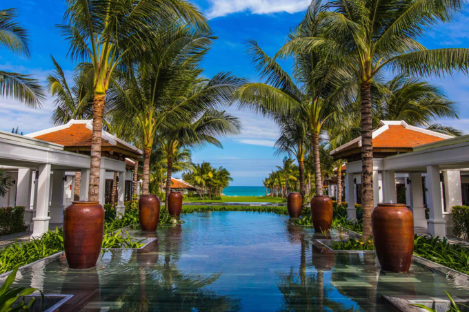 View of the beach fromthe resort at Cam Ranh, where the filming took place. Photo by Shutterstock/Merrillie Redden.