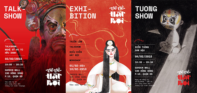 Posters of the exhibition on Sketching Hat Boi.