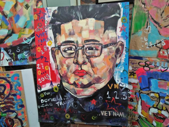A picture of North Korea leaderKim Jong-un. Photo by VnExpress/Bao Ngoc