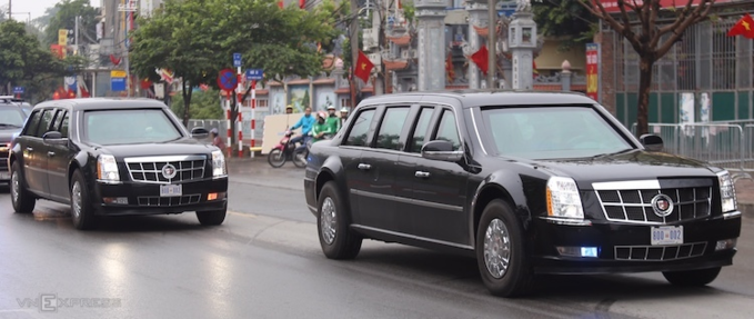 Two presidental state cars called Cadillac One arrives in Hanoi to serve for Trumps upcoming summit with North Korean leader Kim Jong-un. Photo by VnExpress/Gia Chinh