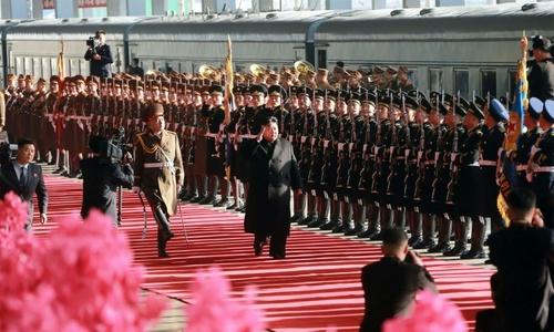 Trump dangles 'major power' carrot as Kim begins trek to summit
