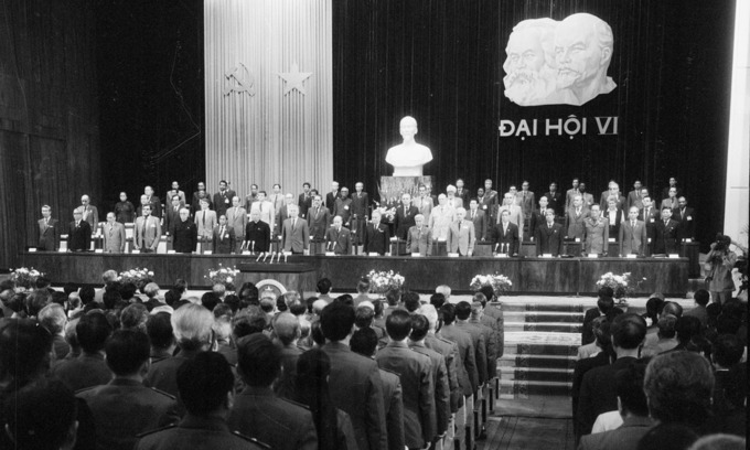 The 6th National Congress of the Communist Party of Vietnam in 1986 when Vietnam decided to go on with Doi Moi. Photo by Vietnam News Agency