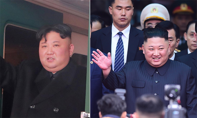 Kim Jong-un changes hairstyle on train to Vietnam