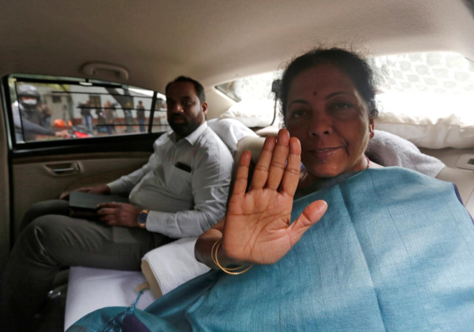 Indias Defence Minister Nirmala Sitharaman gestures as she leaves after attending the Cabinet Committee on Security (CCS) meeting at the prime ministers residence in New Delhi, India, February 26, 2019. Photo by Reuters/Adnan Abidi