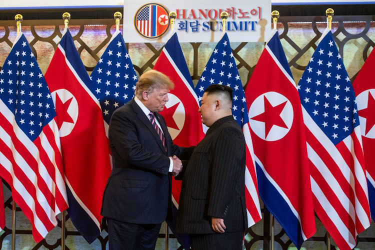 US, North Korean leaders display bonhomie at historic Hanoi summit - 1