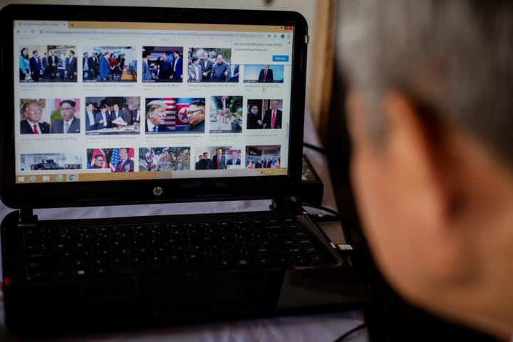 Teacher in Saigon makes US, North Korea leaders from eggshell - 1