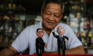 A fragile piece: Saigon teacher makes miniatures of US, North Korea leaders