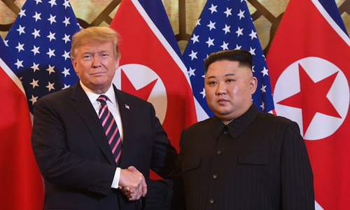 Trump-Kim summit starts high, ends low
