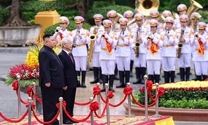 North Korean leader meets Vietnamese leadership in milestone visit