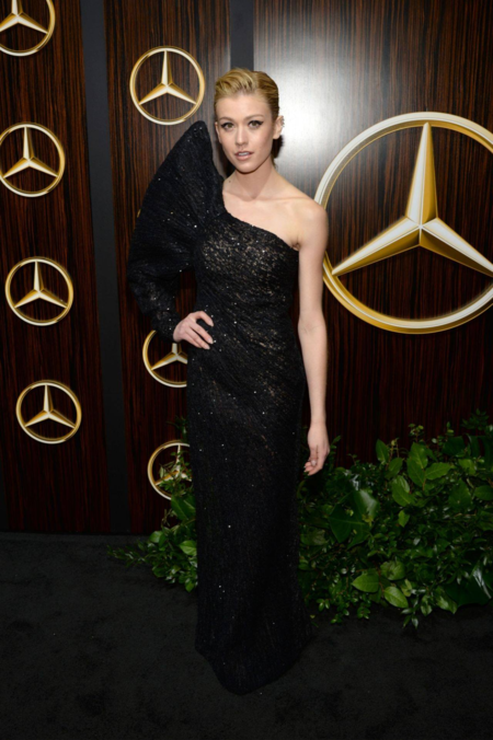 Actress Katherine McNamara wore a Cong Tri designed gown. Photo by CelebMafia