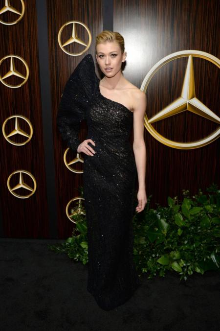 Actress Katherine McNamara wore a Cong Tri designed gown. Photo by CelebMafia