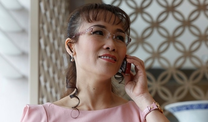 Nguyen Thi Phuong Thao was listed on Forbest billionaire list for the third time. Photo by Reuters/Kham