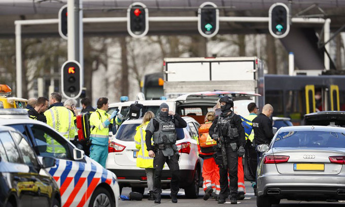 Several hurt in Dutch tram shooting, 'terrorist motive' possible: police